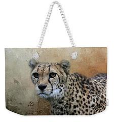 Cheetah Portrait Weekender Tote Bag by Eva Lechner