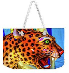 Cheetah Ride Portrait Weekender Tote Bag