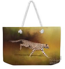 Cheetah Running Weekender Tote Bag
