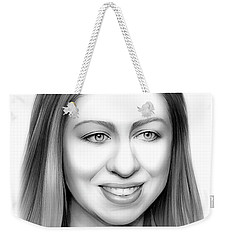 Chelsea Clinton Weekender Tote Bag by Greg Joens