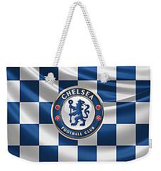 Chelsea F C - 3 D Badge Over Flag Weekender Tote Bag