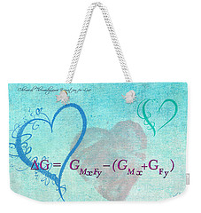 Chemical Thermodynamic Equation For Love Weekender Tote Bag
