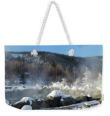 Chena Hot Springs Fairbanks Alaska Weekender Tote Bag by Jani Freimann