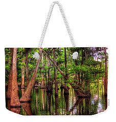 Weekender Tote Bag featuring the photograph Louisiana Cheniere Lake Bayou by Ester Rogers