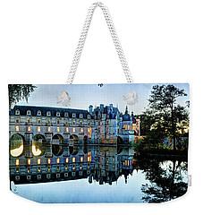 Chenonceau Twilight In Blue - Vintage Version Weekender Tote Bag