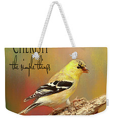Weekender Tote Bag featuring the photograph Cherish by Darren Fisher