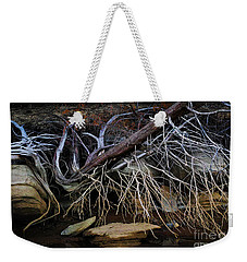 Weekender Tote Bag featuring the photograph Cherokee Lake Abstract by Douglas Stucky