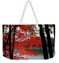 Weekender Tote Bag featuring the photograph Cherokee Lake Color by Douglas Stucky
