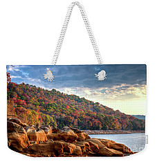 Weekender Tote Bag featuring the photograph Cherokee Lake Color II by Douglas Stucky