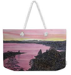 Cherokee Lake Sunset Weekender Tote Bag