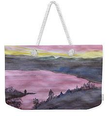 Cherokee Lake - Watercolor Sketch  Weekender Tote Bag by Joel Deutsch