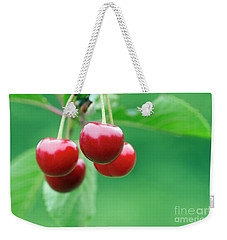 Cherries Weekender Tote Bag by Michal Boubin