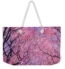 Weekender Tote Bag featuring the painting Cherry Blast by Hailey E Herrera