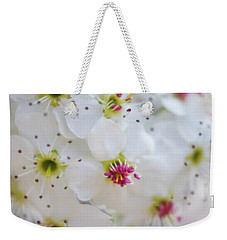 Weekender Tote Bag featuring the photograph Cherry Blooms by Darren White