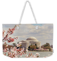 Cherry Blossom And Jefferson Weekender Tote Bag by Rima Biswas