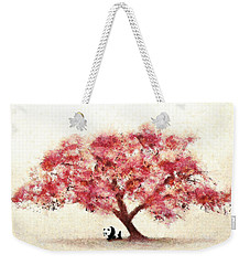 Cherry Blossom And Panda Weekender Tote Bag