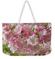 Cherry Blossom Closeup Weekender Tote Bag by Gill Billington