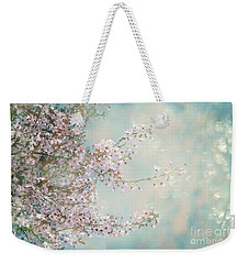 Weekender Tote Bag featuring the photograph Cherry Blossom Dreams by Linda Lees
