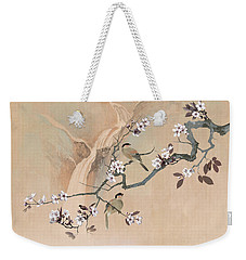 Cherry Blossom Tree And Two Birds Weekender Tote Bag