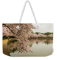 Cherry Blossoms Along The Tidal Basin 8x10 Weekender Tote Bag