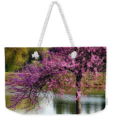Cherry Blossoms By The Pond Weekender Tote Bag