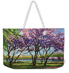 Cherry Blossoms, Central Park Weekender Tote Bag