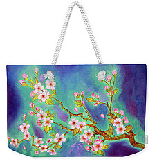 Cherry Blossoms Weekender Tote Bag by Janet Immordino
