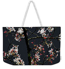 Cherry Blossoms On Dark Bkgrd Weekender Tote Bag