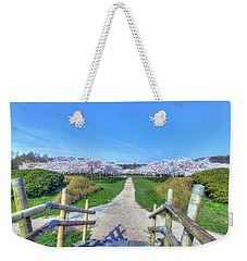 Cherry Blossoms Park Weekender Tote Bag by Nadia Sanowar