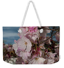 Cherry Blossoms Vertical Weekender Tote Bag