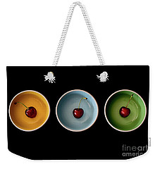 Cherry Color Block Experiment Weekender Tote Bag