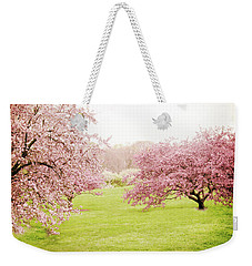 Weekender Tote Bag featuring the photograph Cherry Confection by Jessica Jenney
