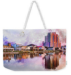 Cherry Grove Skyline - Digital Watercolor Weekender Tote Bag
