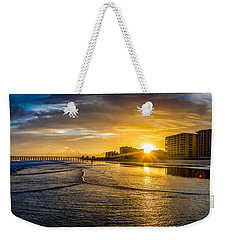 Cherry Grove Sunset Weekender Tote Bag by David Smith