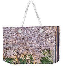 Cherry Morning Path Weekender Tote Bag by David Cote