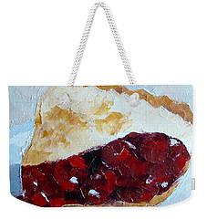 Cherry Pi Weekender Tote Bag by Susan Woodward