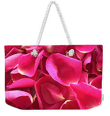 Cherry Pink Rose Petals Weekender Tote Bag