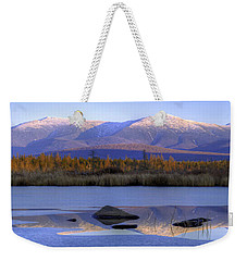 Cherry Pond Reflections Panorama Weekender Tote Bag
