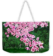 Cherry Reflection Weekender Tote Bag