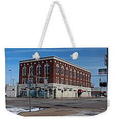 Weekender Tote Bag featuring the photograph Cherry Street Mission In Winter by Michiale Schneider