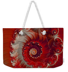Weekender Tote Bag featuring the digital art Cherry Swirl by Kathy Kelly