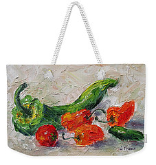 Cherry Tomato And Chiles Weekender Tote Bag by Jill Musser