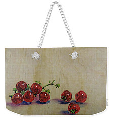 Cherry Tomatoes On Wood Weekender Tote Bag