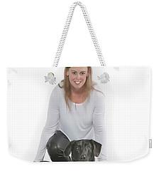 Cheryl 001 Weekender Tote Bag by M K  Miller
