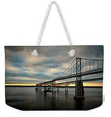 Chesapeake Bay Bridge At Twilight Weekender Tote Bag