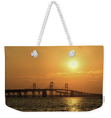 Chesapeake Bay Bridge Sunset I Weekender Tote Bag