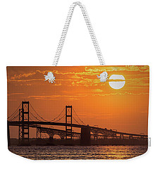 Chesapeake Bay Bridge Sunset II Weekender Tote Bag
