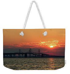 Chesapeake Bay Bridge Sunset 3 Weekender Tote Bag