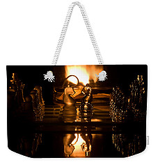 Chess Knights And Flame Weekender Tote Bag