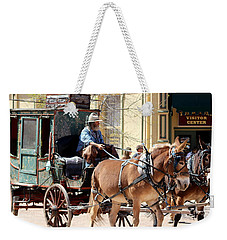 Chestnut Horses Pulling Carriage Weekender Tote Bag